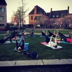 Wij waren buiten vanavond! lente pilates studiokota park nijmegen